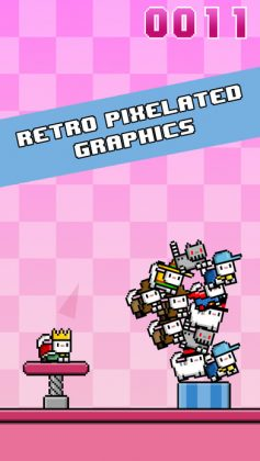 Cat-A-Pult: Endless stacking of 8-bit kittens